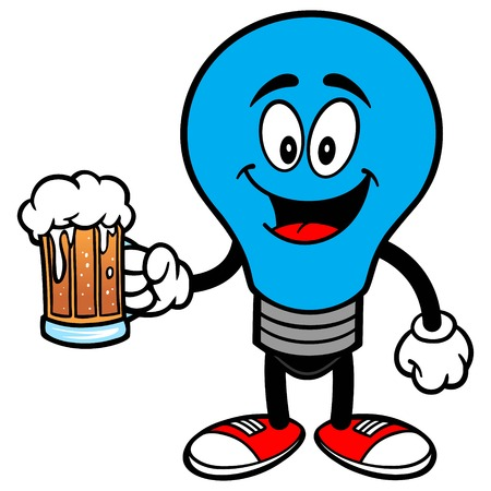 Autism Bulb with a Beer