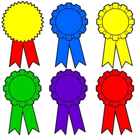 Assorted Award Ribbons Illusztráció