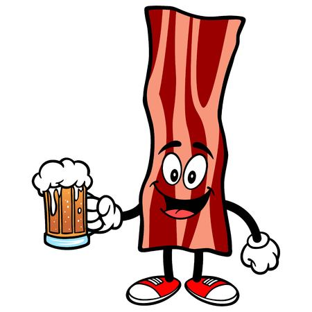 bacon strips: Bacon Strip with Beer