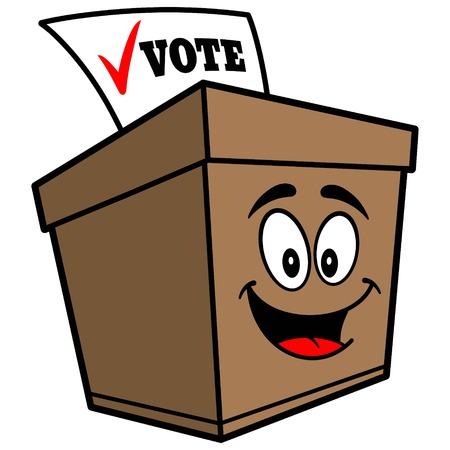 secrecy of voting: Ballot Box Cartoon