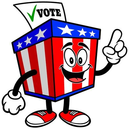 secrecy of voting: Ballot Box Mascot Talking