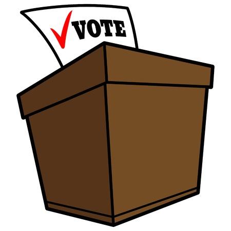 secrecy of voting: Ballot Box Illustration