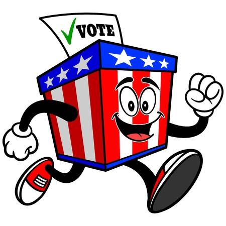 secrecy of voting: Ballot Box Mascot Running