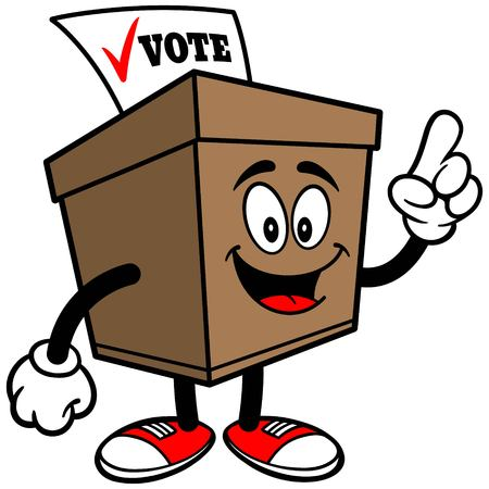 secrecy of voting: Ballot Box Talking Illustration