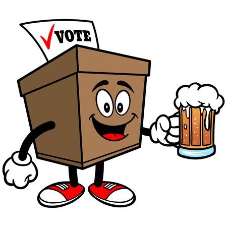 secrecy of voting: Ballot Box with Beer