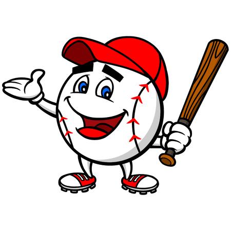 individual sports: Baseball Mascot Illustration