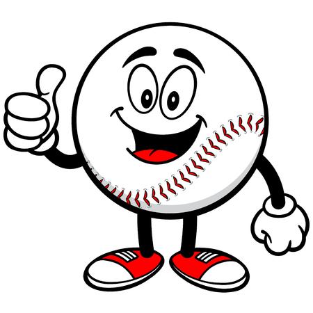 thumbs up: Baseball Mascot with Thumbs Up