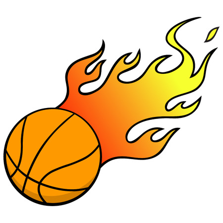 inferno: Basketball with Flames Illustration