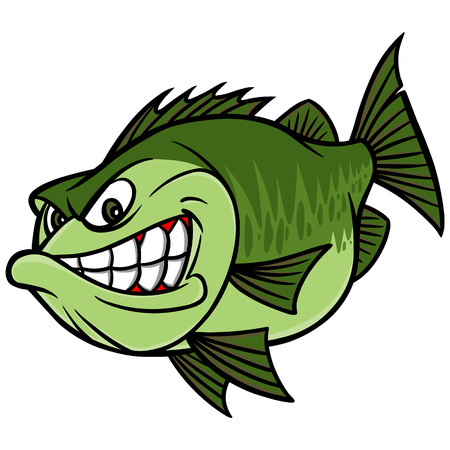 bass fishing: Bass Fishing Mascot