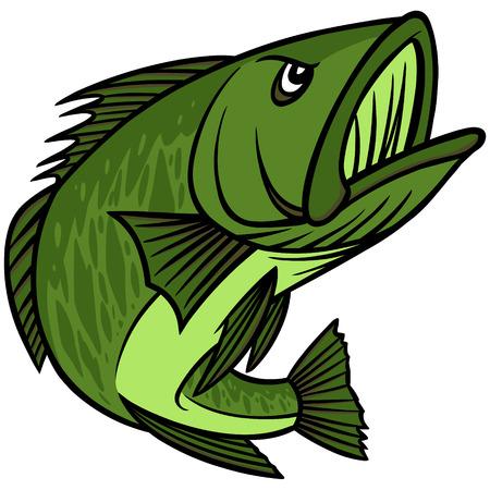 Bass Mascot Illusztráció