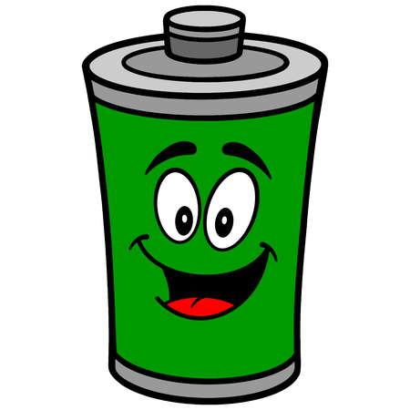Battery Cartoon Illustration