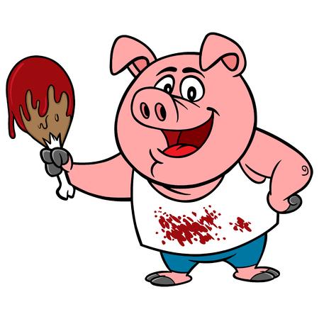 barbecue ribs: BBQ Chicken Illustration