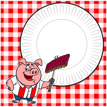 BBQ Cookout Invite Illustration