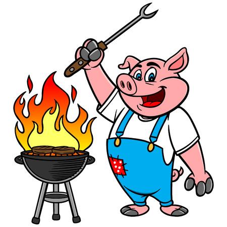 バーベキュー グリル豚