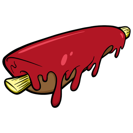 spare ribs: BBQ Ribs Illustration