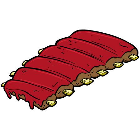 Costillas barbacoa