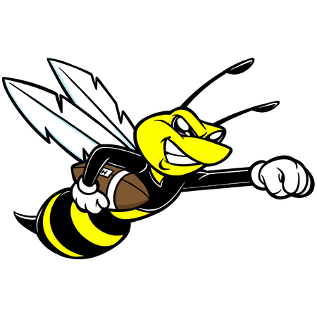 Bee Football Mascot Illustration
