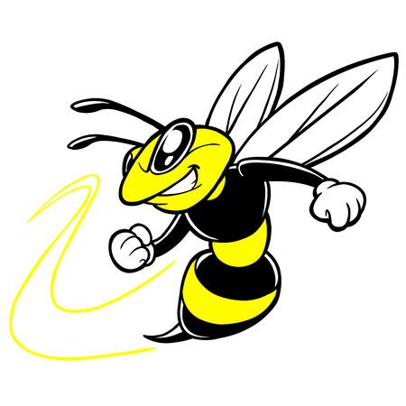 꿀벌 팀 마스코트 일러스트