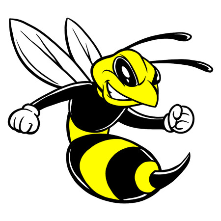 Bee Mascot Stock Illustratie
