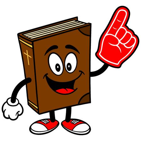 foam finger: Bible School Mascot with Foam Finger