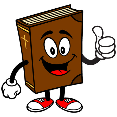 catholicism: Bible School Mascot with Thumbs Up Illustration