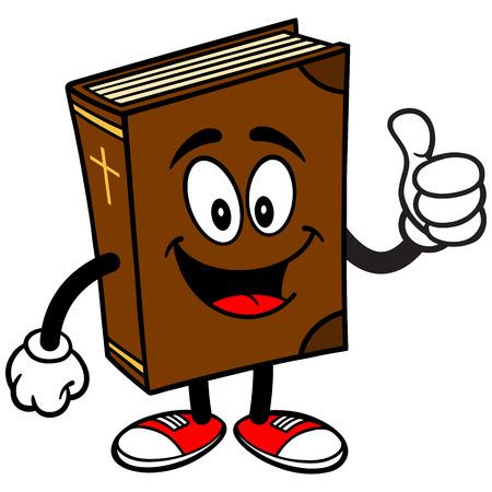 Ecole Biblique Mascot avec Thumbs Up Banque d'images - 57278666