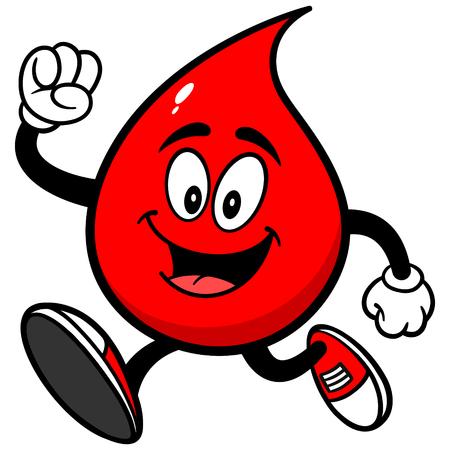 血の滴を実行します。  イラスト・ベクター素材