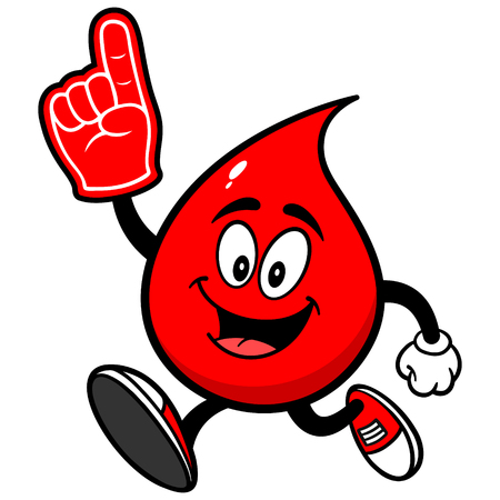 Blood Drop Running with Foam Finger