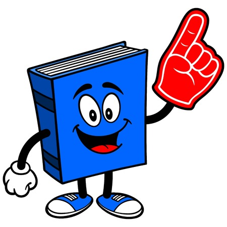 Blue Book with Foam Finger