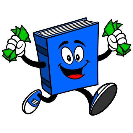 blue book: Blue Book with Money Illustration