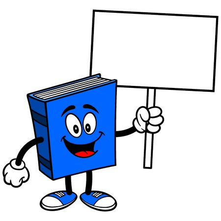 blue book: Blue Book with Sign