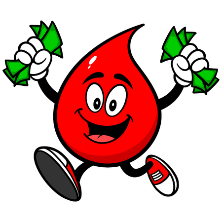 removing: Blood Drop with Money Illustration