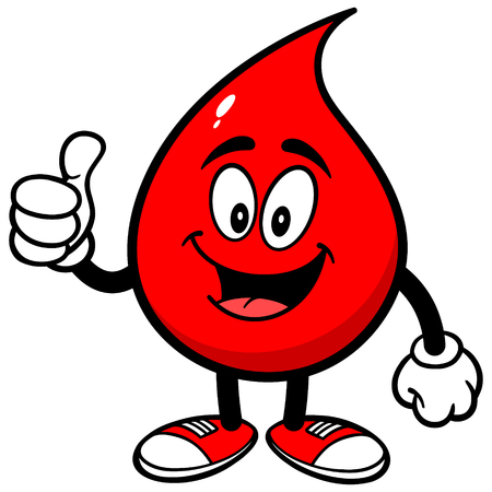 Blood Drop with Thumbs Up