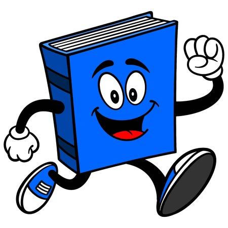 Blue Book Running Illustration