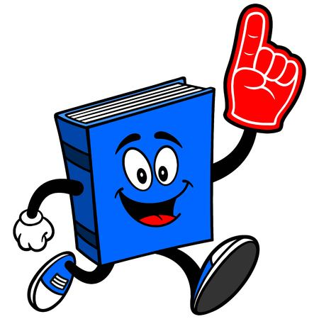 Blue Book Running with Foam Finger