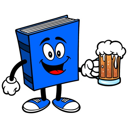 blue book: Blue Book with Beer