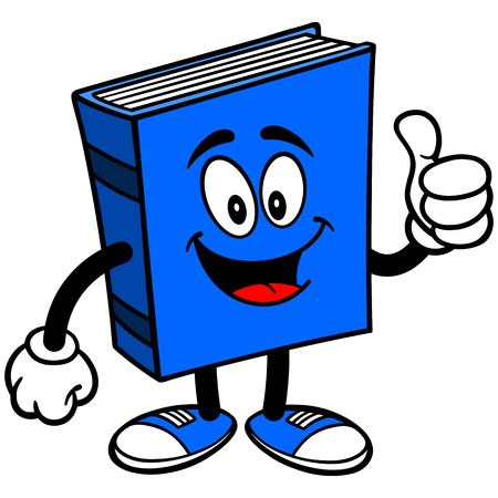 blue book: Blue Book with Thumbs Up