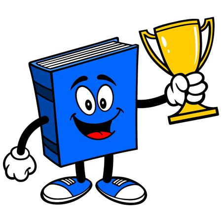 blue book: Blue Book with Trophy Illustration