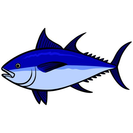 endangered: Bluefin Tuna Illustration