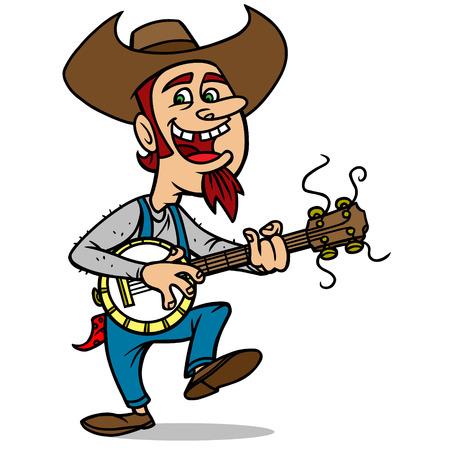 plucking an instrument: Bluegrass Bill