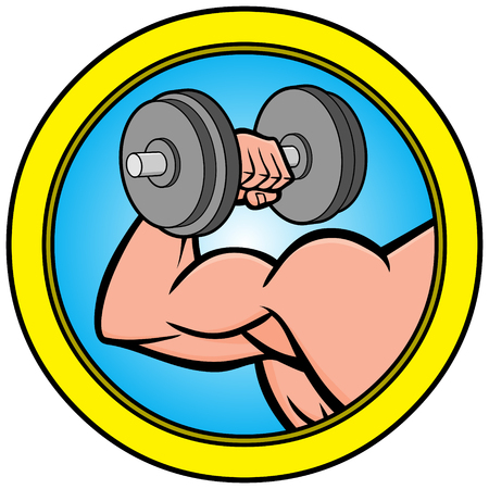 Bodybuilding Icon Illustration