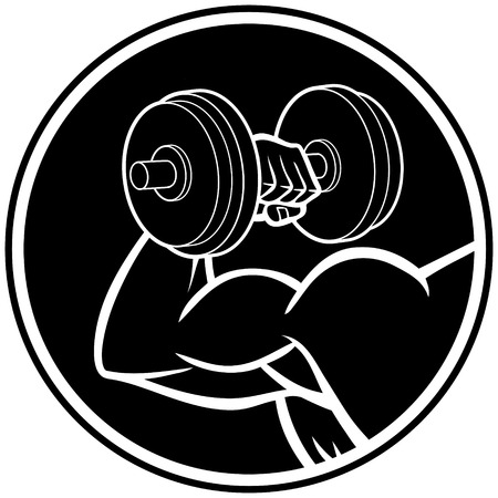 Bodybuilding Symbol Illustration
