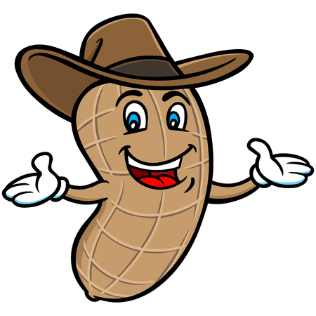 Boiled Peanut Mascot Illustration