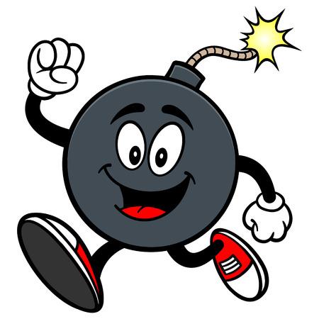 Bomb Mascot Running