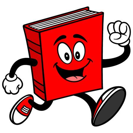 running: Book Running Illustration