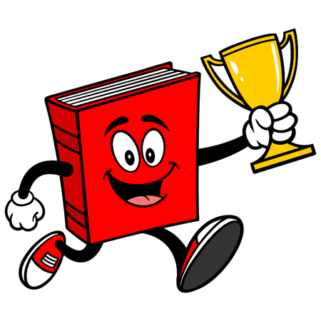 Book Running with Trophy