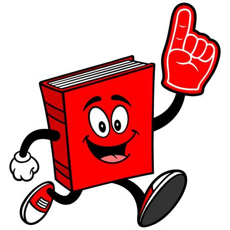 Book Running with Foam Finger