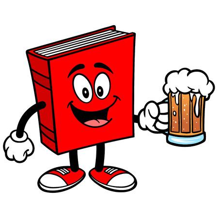 ビールの本  イラスト・ベクター素材
