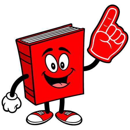 foam finger: Book with Foam Finger