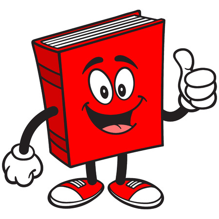 thumbs up: Book with Thumbs Up Illustration